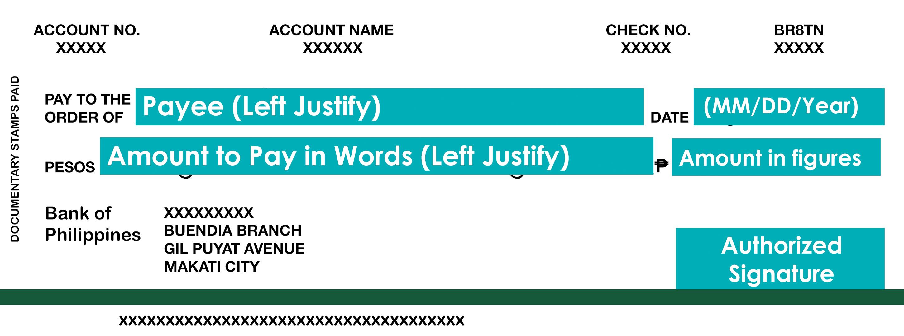 Sample Check Format